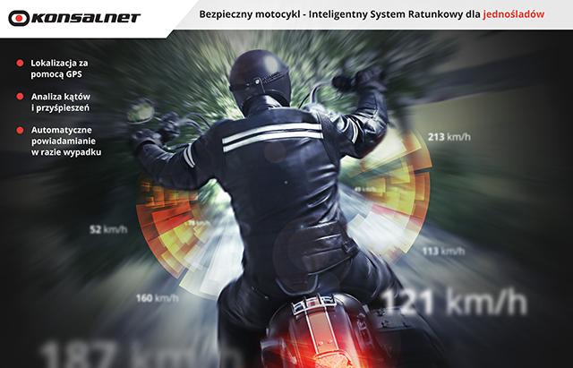 Bezpieczny Motocykl, usługa monitorowania motocykla od firmy Konsalnet